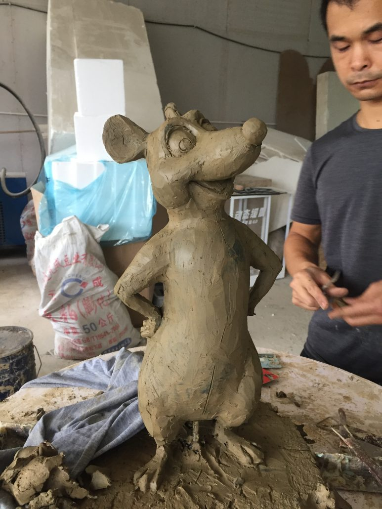 Fiberglass statue sculpture