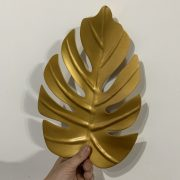 Gold metal palm tree