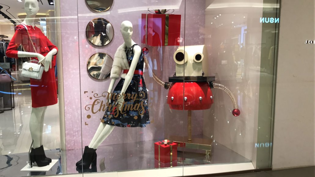 window display robot